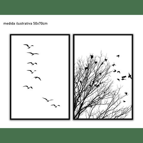 Conjunto de Quadros Separados  Birdie - Alteração de valores por medidas