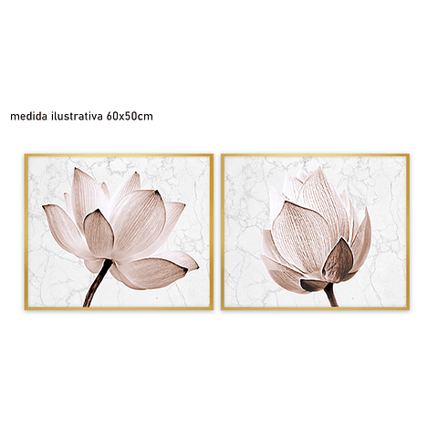 Conjunto de Quadros Separados Roses  - Alteração de valores por medidas