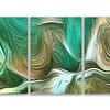 Trio de  Quadros Metacrilato Green Waves - Alteração de valores por medidas