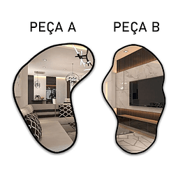 Quadro Espelho Orgânico Splice - Alteração de valores por medidas