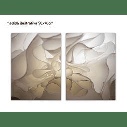 Conjunto de Quadros Metacrilato Valérie - Alteração de valores por medidas