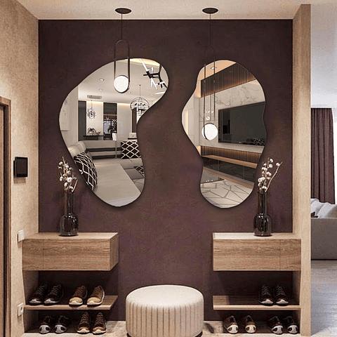 Quadro Espelho Orgânico René sem moldura - Alteração de valores por medidas