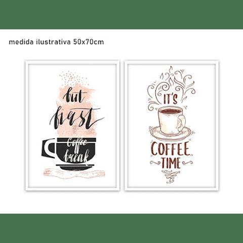 Conjunto de Quadros Separados Coffee  - Alteração de valores por medidas