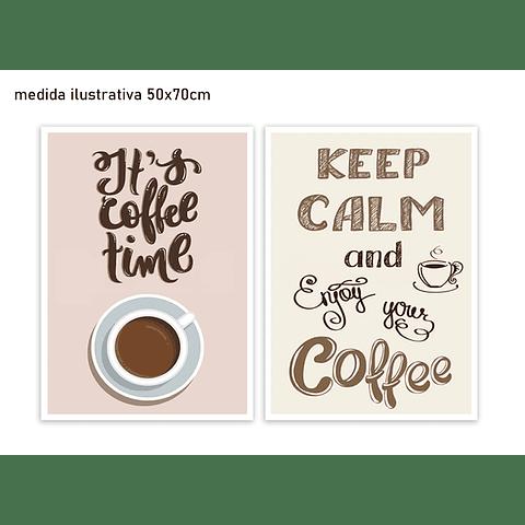 Conjunto de Quadros Separados Coffee Break - Alteração de valores por medidas