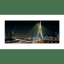 Quadro Metacrilato Ponte Estaiada - Alteração de valores por medidas