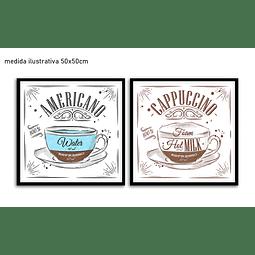 Conjunto de Quadros Separados Cappuccino - Alteração de valores por medidas