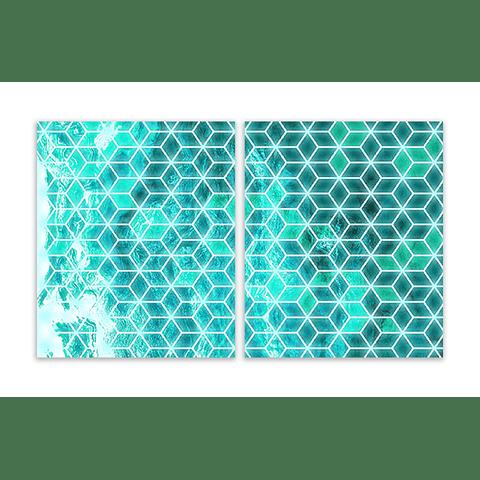 Conjunto de Quadros Metacrilato Tanger Neon (Par) - Alteração de valores por medidas