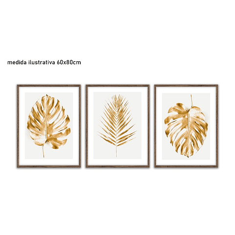 Trio de Quadros Separados Emma - Alteração de Valores por medidas