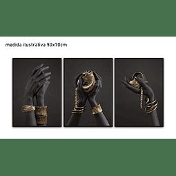 Trio de Quadros Separados Jewels - Alteração de valores por medidas