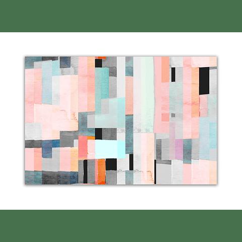 Quadro Metacrilato Cubos Pink - Alteração de valores por medidas