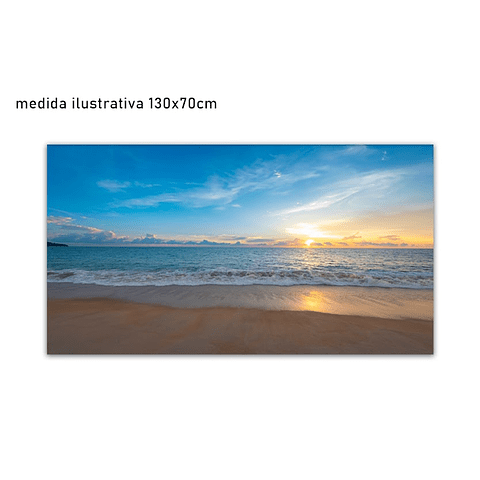 Tela em Canvas  Playa - Alteração de valores por medidas