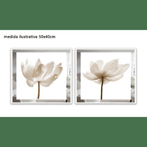 Conjunto de Quadros Separados Loren com Paspatur de Espelho - Alteração de valores por medidas