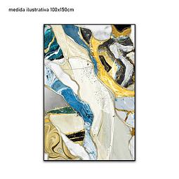 Tela em Canvas  Mosaic - Alteração de valores por medidas