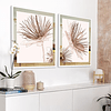 Conjunto de Quadros Living com Paspatur de Espelho  - Alteração de valores por medidas
