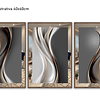 Trio de Quadros Separados Krêft com Paspatur de Espelho  - Alteração de valores por medidas