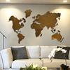 Escultura de Parede em Aço Inox Mapa Mundi - Alteração de valores por medidas