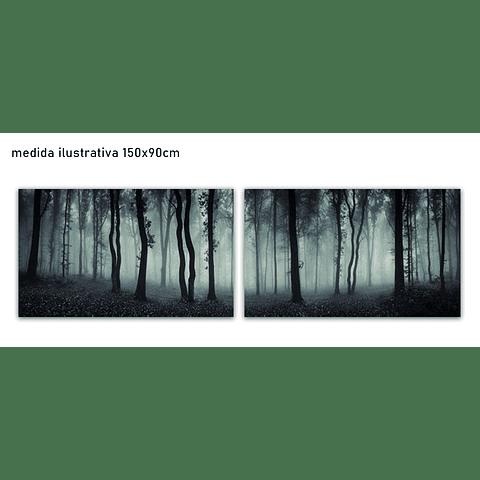 Conjunto de Telas  em canvas Metsä - Alteração de valores por medidas