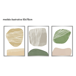 Trio de Quadros Separados Línte - Alteração de valores por medidas