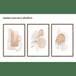 Trio de Quadros Separados Geometry - Alteração de Valores por medidas