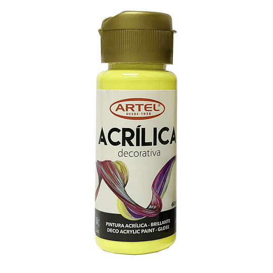 Pint. Acrílica Decorativo Metal / Neón / Pastel 60ml Artel