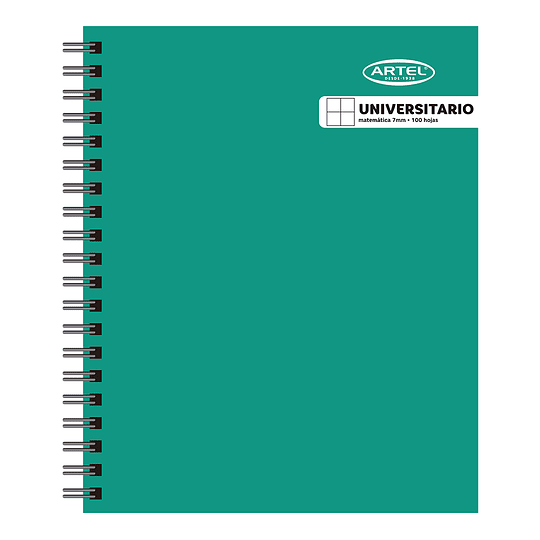 Cuaderno Universitario 7mm 100 hjs Artel