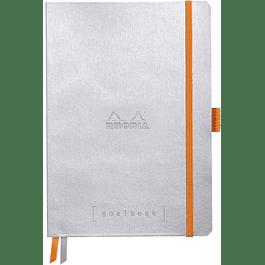 Cuaderno Rhodia GoalBook - 14,8 x 21 cm - Color Plata