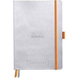 Cuaderno Rhodia GoalBook - 14,8 x 21 cm - Color Plata