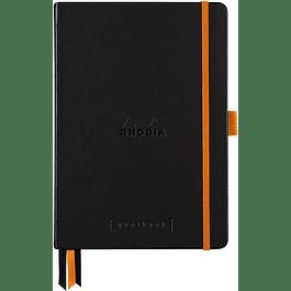 Cuaderno Rhodia Tapa dura GoalBook - 14,8 x 21 cm - Color Negro