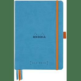 Cuaderno Rhodia Tapa dura GoalBook - 14,8 x 21 cm - Color Turquesa