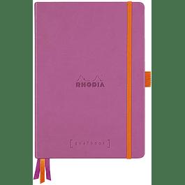 Cuaderno Rhodia Tapa dura GoalBook - 14,8 x 21 cm - Color Lila