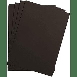 5 Láminas sueltas Papel Acuarela - Hojas Negras Grano Fino (2 tamaños)