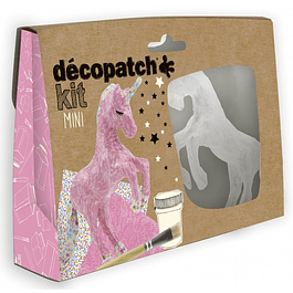 Mini Kit - Unicornio + 2 papeles Decopatch