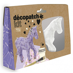 Mini Kit - Caballo + 2 papeles Decopatch