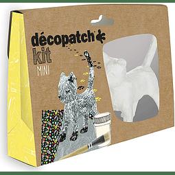 Mini Kit - Gato + 2 papeles Decopatch