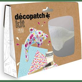Mini Kit - Delfín + 2 papeles Decopatch