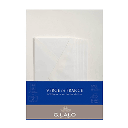Set de correspondencia A4 - Vergé de France - Blanco