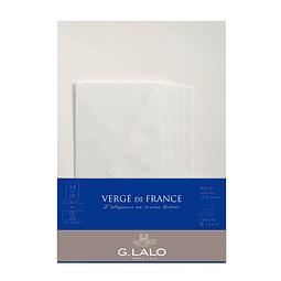 Set de correspondencia A4 - Vergé de France - Extra Blanco