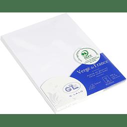 25 Cartas C6 -  Vergé de France 210g - Extra Blanco