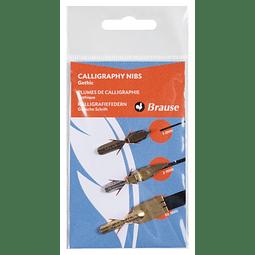 3 Plumas Caligráficas - Oncial y Carolina