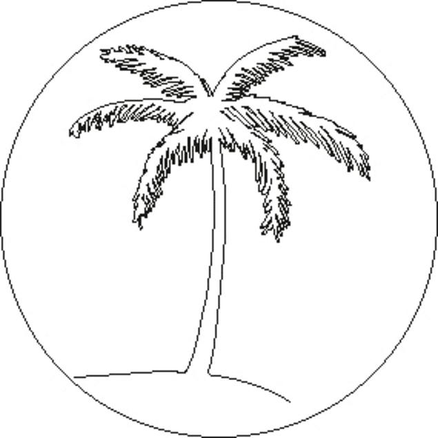 Juego de Sello + Mango de madera (24 mm) - Palmera