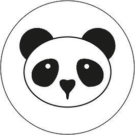 Juego de Sello + Mango de madera (24 mm) - Panda