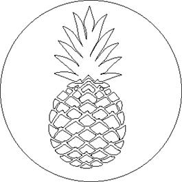 Juego de Sello + Mango de madera (24 mm) - Piña