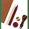 Set clásico de 1 sello y 2 Ceras - Flor de Lis