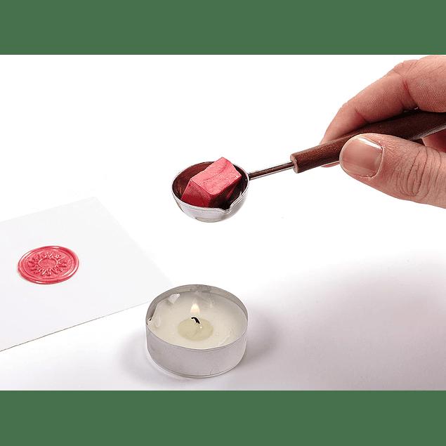 Set Cuchara para Cera + Cera roja