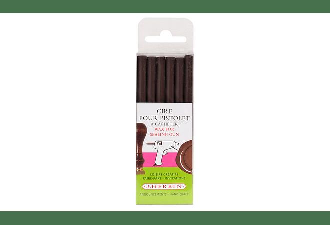 6 Barras de cera para pistola, chocolate