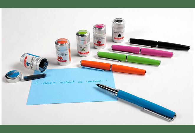 Bolígrafo de metal naranjo roller