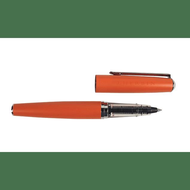 orange metal roller ballpen orange metal