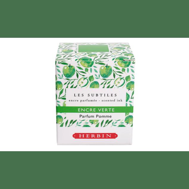 Tinta perfumada 30ml verde fragancia Manzana