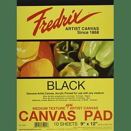Bloc de tela negra Mixed Media Fredrix Canvas - (4 tamaños)