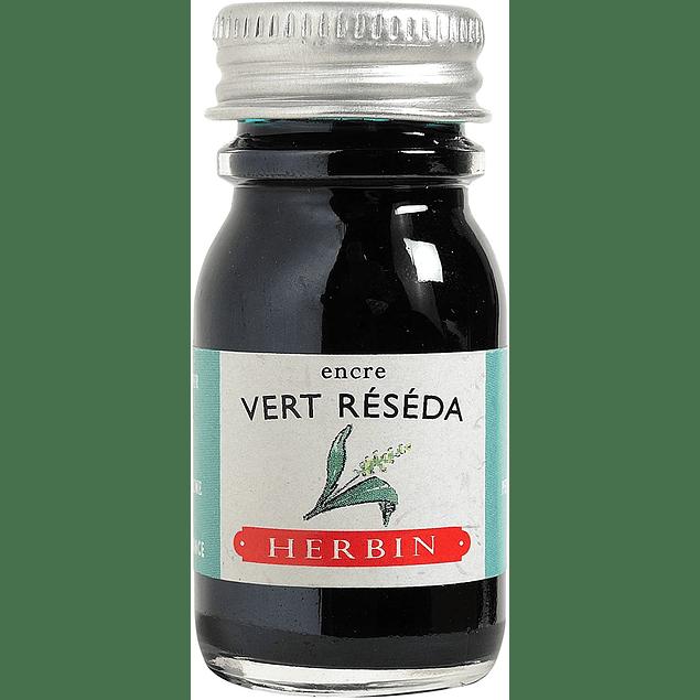 Tinta caligráfica, frasco de 10 ml. vert réséda